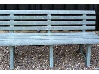GREEN STURDY WEATHERPROOF PLASTIC GARDEN BENCH, SEATS 3, DISMANTLES, CAN DELIVER