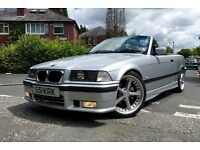 "** ONE OFF ** BMW E36 325 M SPORT CONVERTIBLE, MANUAL (RARE), 11 MONTH MOT, 18"" AC SCHNITZER ALLOYS"