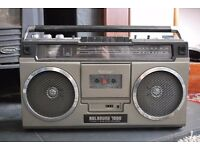 Original Vintage 1980's Radio/cassette player
