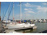 30ft sailing yacht with beta engine and wind pilot,fully equipped