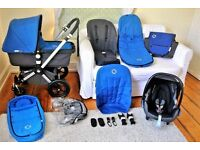 Bugaboo Cameleon 3 in 1 full travel system many extras in charcoal grey/blue barely used immaculate