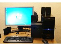 COMPLETE DESKTOP PC INTEL i5 320ghz INCL DESK AND CHAIR