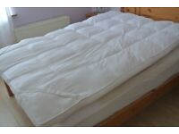 double bed topper