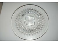 GLASS SERVING PLATE