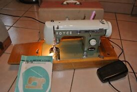 Solid Metal ROYCE Sewing machine Straight stitch & zig zag and different stitches