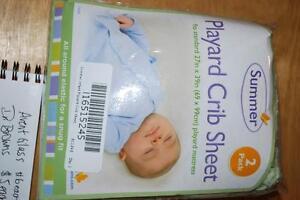 Never Used Summer PlayYard Crib Sheet Set 2pk