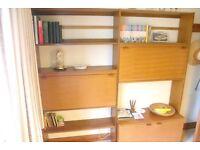 1960s solid wood (teak) lounge unit.