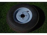 "10"" trailer wheel and tyre"