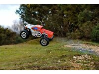RC XTM Monster MT Nitro Truck 1/8 Radio Controlled - 2 Available - Well Looked After with Remote