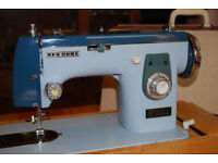 Excellent Sewing Machine - New Home (Janone) model 574 blue. With all accesories and instructions..
