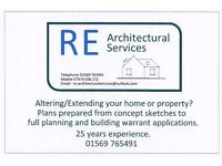 RE Architectural Services - Altering or Extending your property - Plans prepared for Approvals.