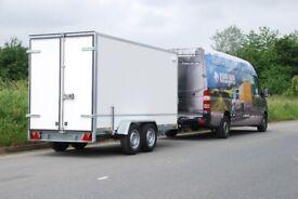 Box trailer 3.6m x 1.5m x 1.8m twin axle class 2700kg