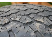 2 x General Grabber tyres 255/60 R18 112H M&S with Discovery alloy. Good tread depth.pth and