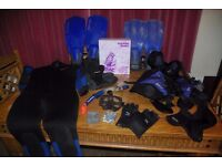 Diving equipment BCD - Fins - Mask - Wetsuit - BSAC lecturers course book - Shoes - Gloves + More