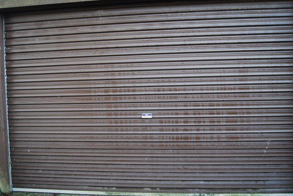Electric Roller Garage Door Brown And Grey Colour In Redruth