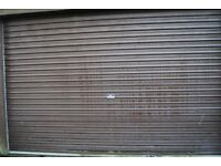 Electric Roller Garage Door - brown and grey colour