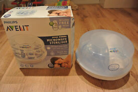 Philips Avent Microwave Steam Steriliser - Immaculate Condition