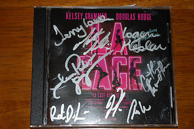 La Cage Aux Folles CD signed by 13 incl Kelsey Grammer