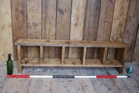 BENCH 5 holes rustic / industrial reclaimed wood salvage hunters storage gplanera