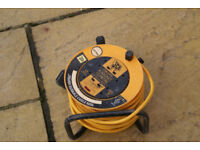 15 metre extension lead on cable drum