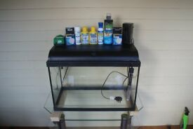Interpet 60ltr aquarium tank plus accessories