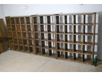 Upcycle revolution reclaimed wood furniture bookcases pigeon holes storage gplanera