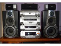Technics SC-DV170 Top end Hi-Fi system. 5 CD / DVD Autochanger 5.1+ Rare!