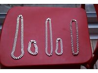 LOT OF STERLING SILVER CHAIN
