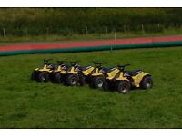 Go Karts, Suzuki Quad Bikes, Inflatables, Bike Barriers, Helmets, Blowers, Complete Package