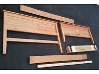 Double wooden bed no fasteners