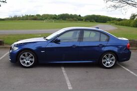 BMW 320i M Sport 4 door saloon in Le Mans blue. 2009 Full BMWSH. ONE owner from new