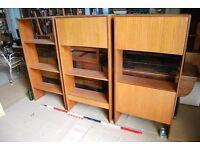 G Plan BOOKCASES bureau etc wall furniture minimalist mid century mod Danish teak era gplanera