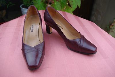 Court Shoes Julien David Leather Bordeaux T 37 Very Good Condition