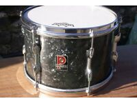 Premier vintage 12x8-inch tom in Black Pearl finish