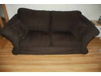Chocolate brown DFS sofa bed