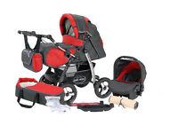 Junior pram pushchair stroller buggy 3 in1 from Baby-Merc + car seat included