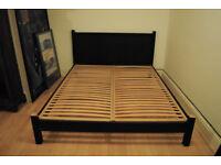 Habitat King Size Bed - dark wooden bedframe, original price 500 pounds