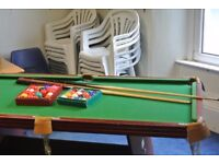 Pool and snooker table great fun