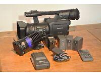 PANASONIC AG-HPX171E P2 HD 3CCD Handheld Camcorder + Bebob Light + 3 x Batteries + Charger