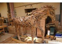 Teak Root Horse. Indoor/ Outdoor. Life Size. Stunning