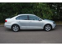 VW Jetta (manual) 2.0 SE TDI (diesel, 140PS) metallic silver. 28,000m. Full dealer service history.