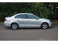 VW Jetta (man) 2.0 SE TDI 140PS metallic silver. 28,000m. FSH. Like small Passat or Golf with boot.