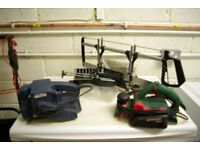 Electric plane, belt sander & mitre saw all in working order.