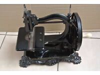 Antique 1870s Wanzer Time Utilizer Sewing Machine on Base.