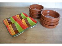Spanish Tapas Dishes Set