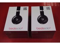 Beats Solo 2 Luxe Edition Black Headphones Brand New £120