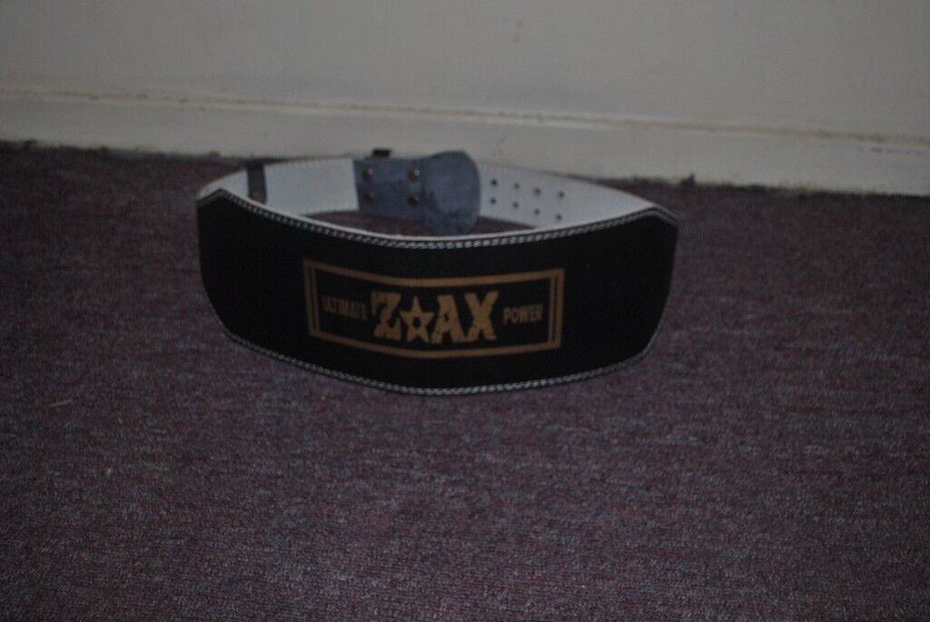"""6"""" WIDE Leather Weight Lifting Belt Body Building Gym Training Support Belt Size XXXL"""