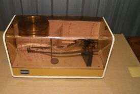 Vintage 60's 70's Casella Wind Up Thermohygrograph Barograph Use or Display