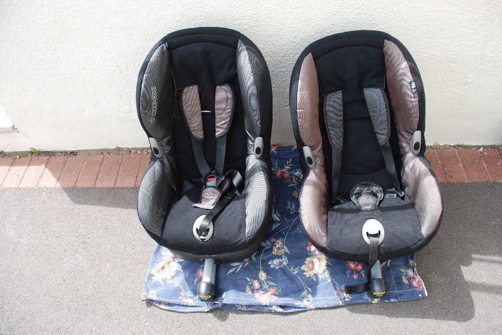 2 x maxi cosi priorifix isofix car seats in stoke bishop. Black Bedroom Furniture Sets. Home Design Ideas
