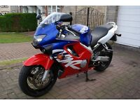 Honda CBR600 F-Y Super Bike, immaculate bike, low mileage in striking colours.